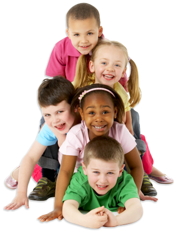 group of preschool kids smiling
