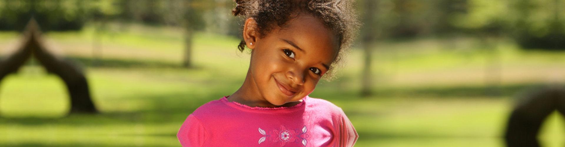 cute female kid smiling